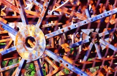 Rusted Wheels by Carolann DeMatos