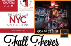 Gilda's Club NYC Fall Fever 2013 Promotional Flyer (Featured Image)