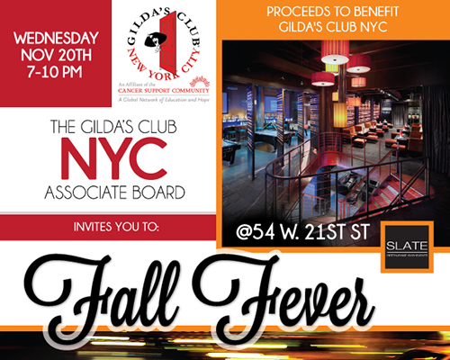 Gilda's Club NYC Fall Fever 2013 Promotional Flyer