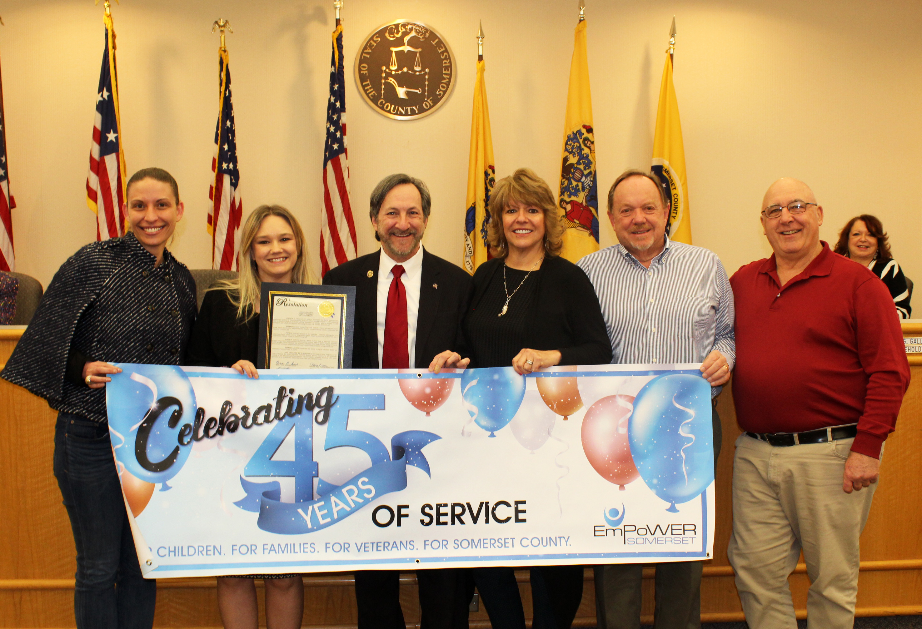 Empower Somerset 45th Anniversary Somerset County Freeholders Proclamation